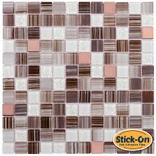 Stick On Kitchen Backsplash Adhesive Backsplash Tile Kit Backyard Decorations By Bodog