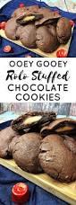 ooey gooey rolo stuffed chocolate cookies