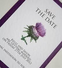 thistle scottish wedding save the date cards vintage wedding