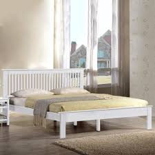 White Small Double Bed Frame by New Harmony Beds Windsor Wooden Bed Frame Oak Or White Finish
