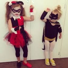 Batgirl Halloween Costume Harley Quinn U0026 Batgirl Halloween Hipkin Kids