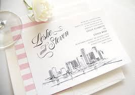 Wedding Invitations Miami Amazon Com Miami Skyline Wedding Invitations Package Sold In