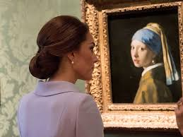 vermeer girl with pearl earring painting duchess of cambridge visits museum on royal trip artnet news