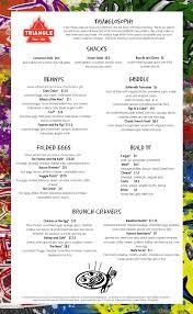 menu for brunch our brunch menu charleston burger restaurant triangle char bar