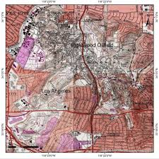 map of inglewood california topographic map of inglewood oilfield in los angeles county