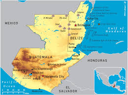Mexico Map 1800 Of Guatemala And Belize 2011