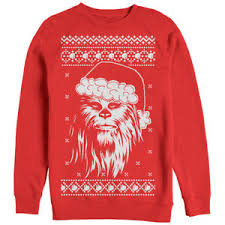 sweater wars wars sweater chewbacca santa mens graphic