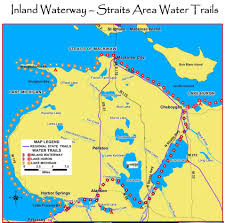 Detailed Map Of Michigan Inland Waterway Indian River Chamber Of Commerce