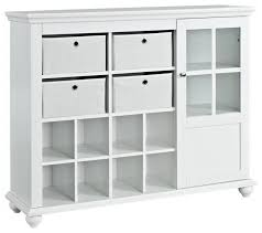 wall shelves with glass doors altra furniture reese park storage cabinet with 4 fabric bins and
