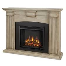 Indoor Electric Fireplace Real Adelaide Indoor Electric Fireplace In Brush White