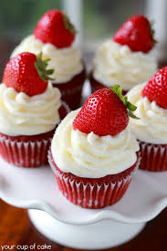 strawberry red velvet cupcakes your cup of cake