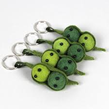 peas in a pod keychain pea pod key ring by sewsew notonthehighstreet