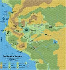 Continents On Map Greyhawk Grognard Gonduria Aquaria And Oerth U0027s Four Continents