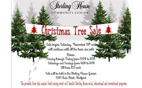 christmas tree sale sterling house kicks annual christmas tree sale