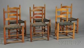 Slat Back Dining Chairs Search All Lots Skinner Auctioneers