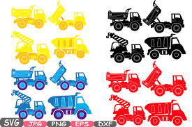 construction machines silhouette svg file cutting files dump
