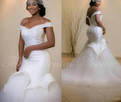 wedding dresses mermaid style 2017 mermaid style wedding gowns the shoulder beaded