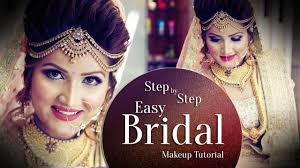 how to make bridal hairstyle beautiful makeup for indian bride step by step easy bridal