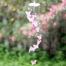 creative butterfly wind chime bell ornament garden living