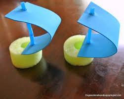 pool noodle boats water sensory bin fspdt