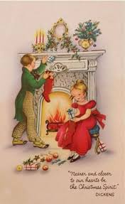 84 best hanging or checking stockings vintage christmas cards