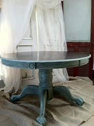 Shabby Chic Kitchen Table by Vintage Ball U0026 Claw Solid Oak Kitchen Table Refinished On Top