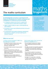 the maths curriculum acme