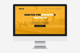 hardy one page html template website templates creative market