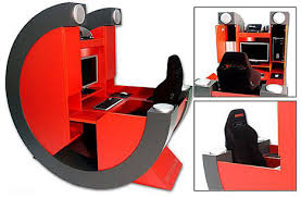 Awesome Gaming Desk For Those About To Battle Rig Pro Gamer Desk Gearfuse