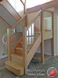 Glass Banisters For Stairs Oak Staircases With Glass Panels Most Promising Pinterest