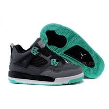 green glow 4 kid 4 shoes iv green glow grey green glow cement grey