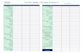 budgeting worksheets personal monthly budget spreadsheet back to