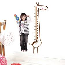 removable giraffe wall sticker kids child growth chart height package included 1 x giraffe height chart wall sticker