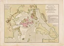 Boston On Map by Richard Williams U0027 Fine Map Of The Siege Of Boston Rare U0026 Antique
