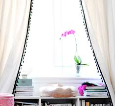 Curtains With Pom Pom Trim Take Your Curtains From Drab To Fab My Ikea Dressers Makeover