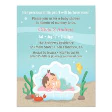 the sea baby shower invitations mermaid the sea baby shower invitations zazzle