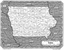 Iowa Counties Map Iowa Alexander Mccord