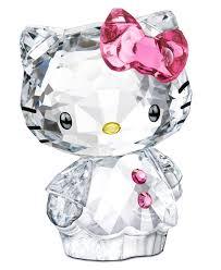 swarovski collectible figurine hello kitty bow home decor for
