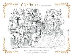 free printable cinderella coloring pages for kids free cinderella