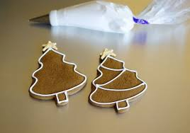 Simple Decorated Gingerbread Cookies Bake at 350°