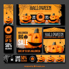 halloween watercolor elements vector free download