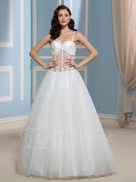 spaghetti wedding dress fishbone spaghetti straps gown appliques wedding dress