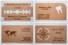 wooden business card unique design set of 100 custom
