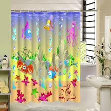 online get cheap fish shower curtain fabric aliexpress com