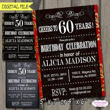 30th surprise party invitations cheers to 30 40 50 60 70 80 90 years birthday party