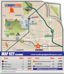 Map Of Downtown Disney Leading Edge Helicopter Tours