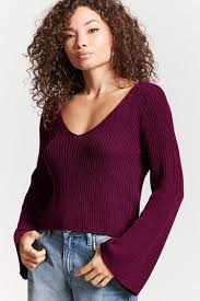 bell sleeve sweater open knit bell sleeve sweater forever 21 2000148887