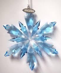 2017 swarovski frozen snowflake ornament disney aqua blue