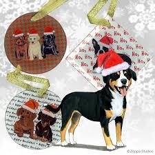 entelbucher mountain dog christmas ornament