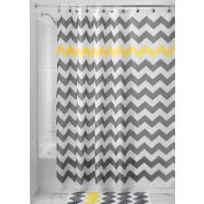 bathroom grey shower curtain with cool pattern for bathroom